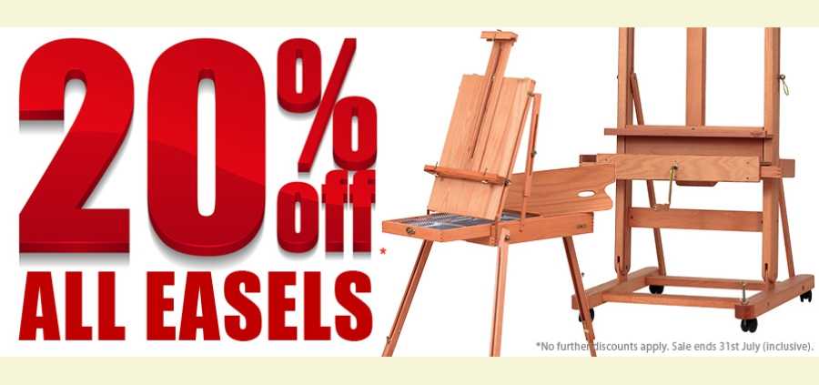 Easels 20% Off only in July