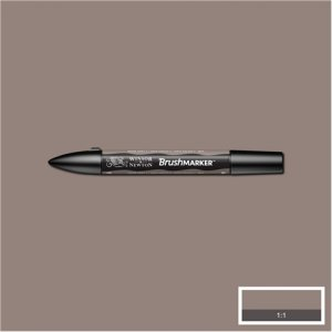 Warm Grey 4 (Wg4) Winsor Brush Marker