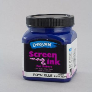 Royal Blue Screen Ink Derivan (Fabric) 250ml