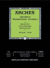 Arches Watercolour Pad 185gsm A3 Cold Pressed / Medium