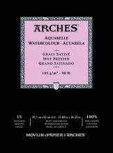 Arches Watercolour Pad 185gsm A3 Hot Pressed / Smooth