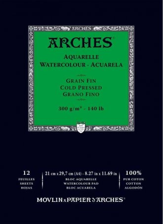 Arches Watercolour Pad 300gsm A4 Cold Pressed / Medium