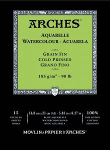 Arches Watercolour Pad 185gsm A5 Cold Pressed / Medium