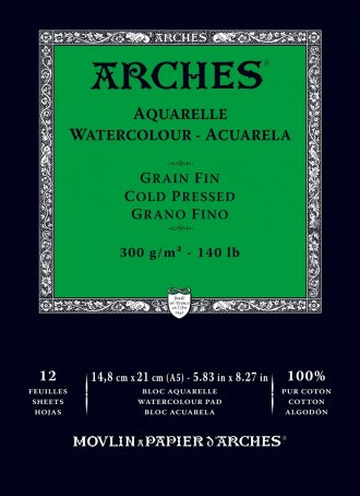 Arches Watercolour Pad 300gsm A5 Cold Pressed / Medium