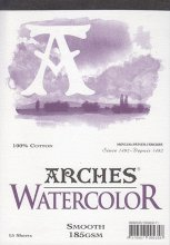 Arches Watercolour Pad 185gsm A2 Smooth