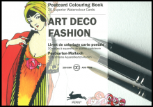 Art Deco Postcard Artist Colouring Pepin