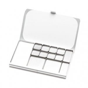 Art Toolkit Pocket Palette Silver with Assorted Pans