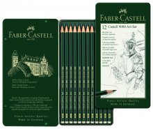 Faber Castell Graphite 9000 Art Set (12 tin)