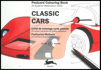 Classic Cars Postcard Artist Colouring Pepin