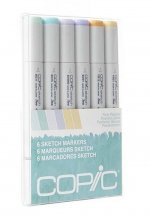 Copic Sketch Pale Pastel Set 6