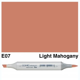 Copic Sketch E07-Light Mahogany