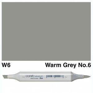 Copic Sketch W6-Warm Grey No.6