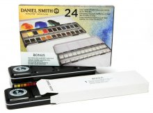 Daniel Smith 24 Color Hand Poured Half Pan Set in a METAL BOX