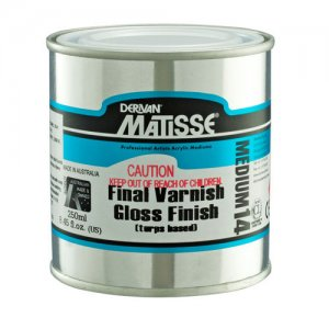 Final Varnish Gloss (Turps) MM14 Matisse 500ml
