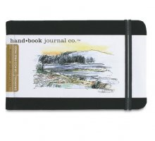 "Hand Book Journal 130gsm 5.5x3.5"" L/scape Black"