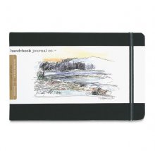 "Hand Book Journal 130gsm 8.25x5.5"" L/scape Black"