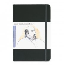"Hand Book Journal 130gsm 5.5x8.25"" Portrait Black"