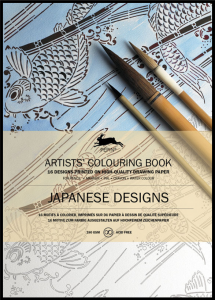 Japanese Designs Artist Colouring Book Pepin