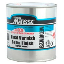 Final Varnish Satin (Turps) MM29Matisse 500ml