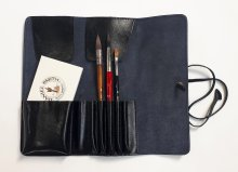 Neef Leather Brush Wallet Black