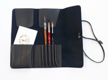 Neef Leather Brush Wrap Charcoal