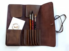 Neef Leather Brush Wallet Brown