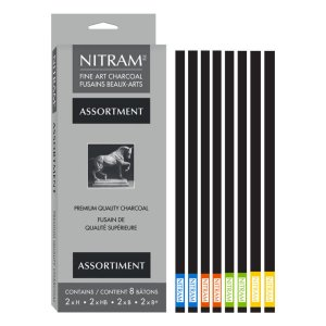 Nitram Assortment Charcoal (8 Sticks)