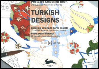 Turkish Designs Postcard Artist Colouring Book Pepin