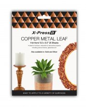 Xpress Imitation Copper Leaf 14x14cm (25 pack)