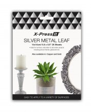 Xpress Imitation Silver Leaf 14x14cm (25 pack)