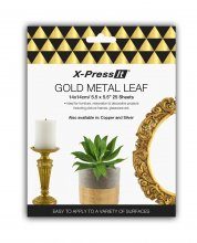 Xpress Imitation Gold Leaf 14x14cm (25 pack)
