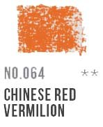 064 Chinese Red Vermillion Conte Crayon