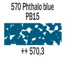570.3 Phthalo Blue Rembrandt Soft Pastel