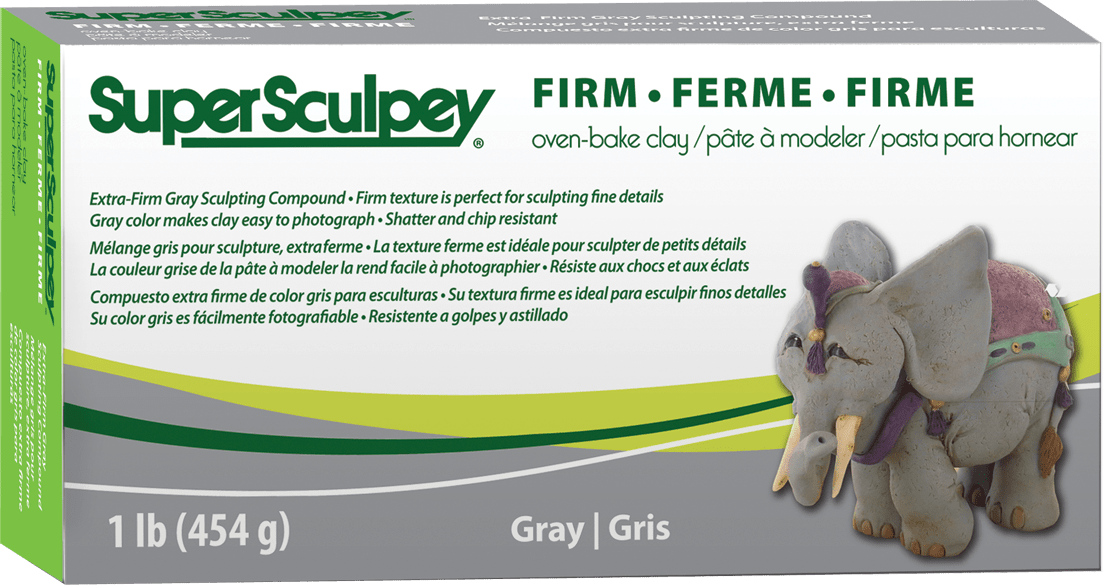 Super Sculpey Grey Firm 454g