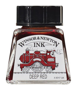 Drawing Ink Deep Red 14ml Winsor&Newton
