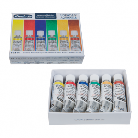 Schmincke Transparent Mixing Colours Set 6 x 5ml Tubes